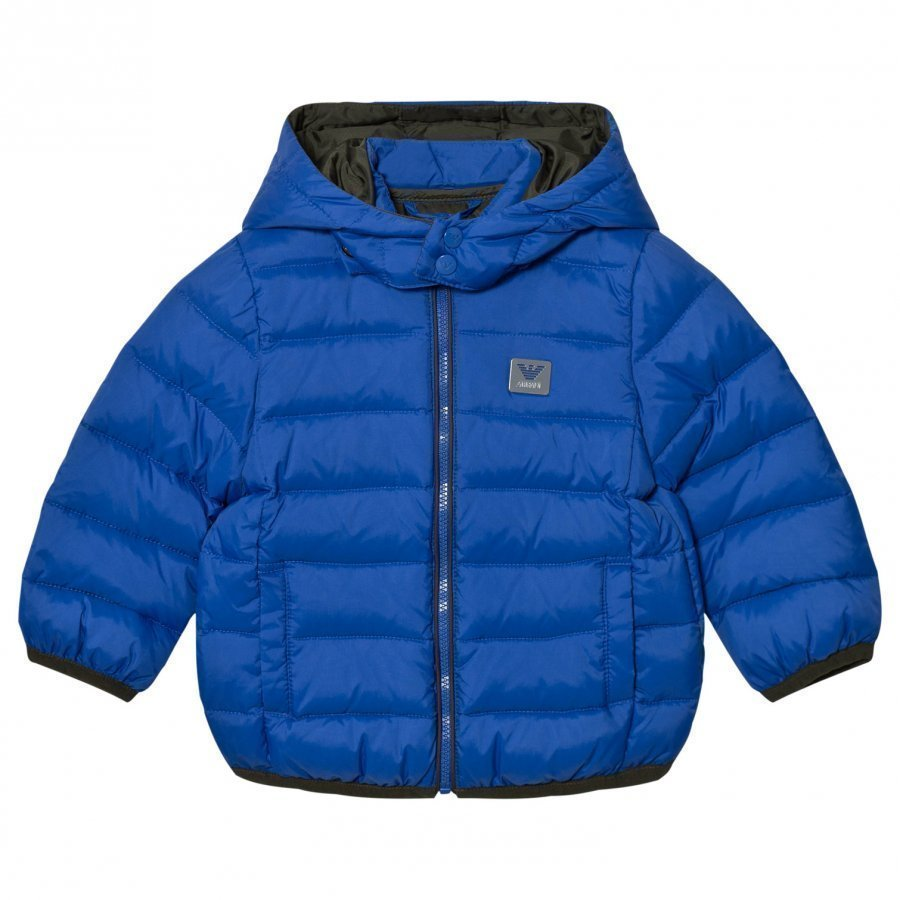 Armani Junior Blue Down Puffer Coat Toppatakki