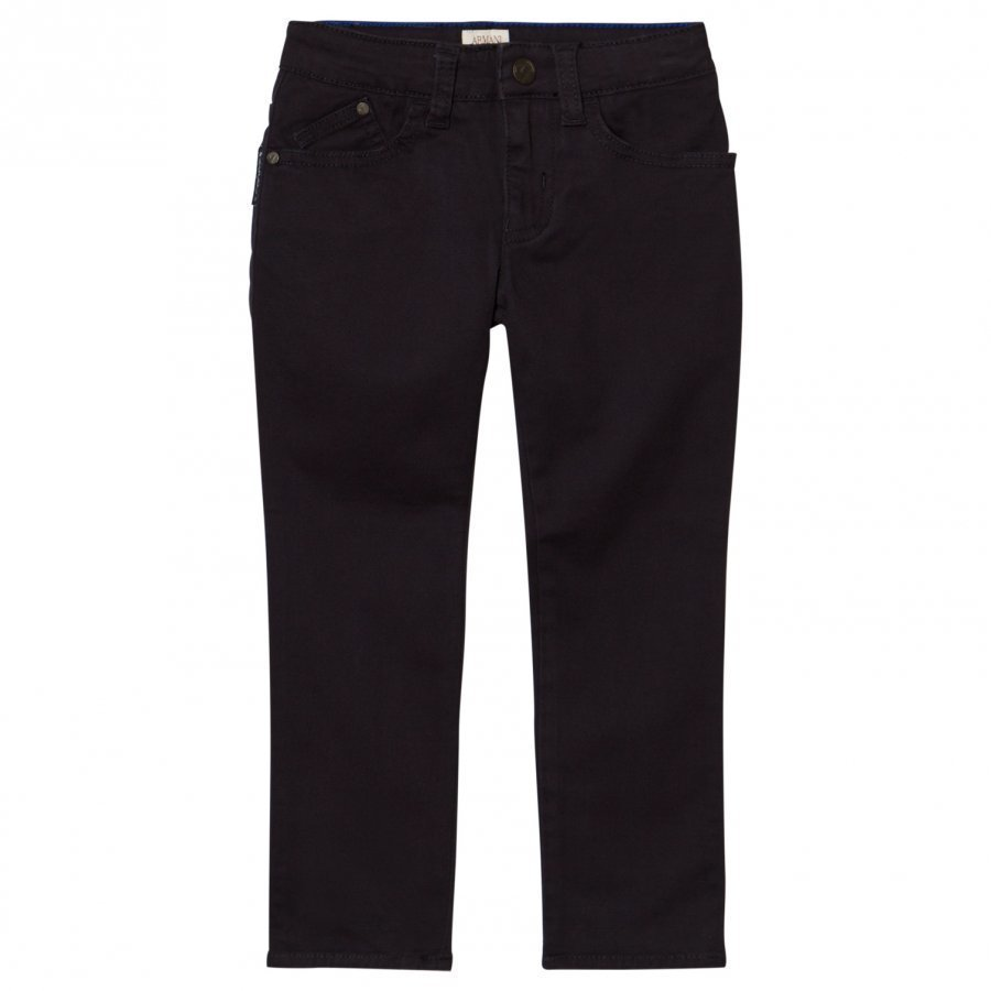Armani Junior Blue Gabardine Chinos Housut
