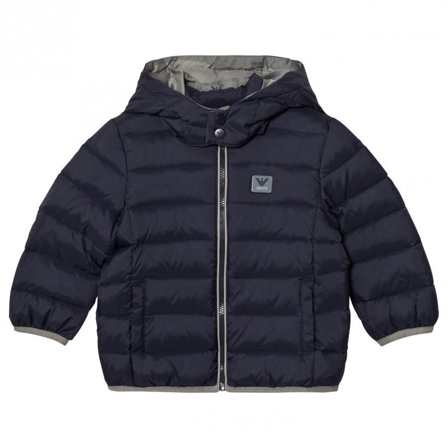 Armani Junior Navy Down Puffer Coat Toppatakki