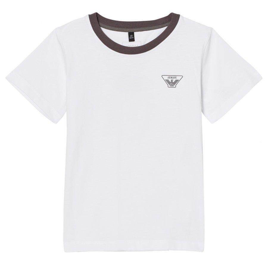 Armani Junior White Classic Logo Tee T-Paita