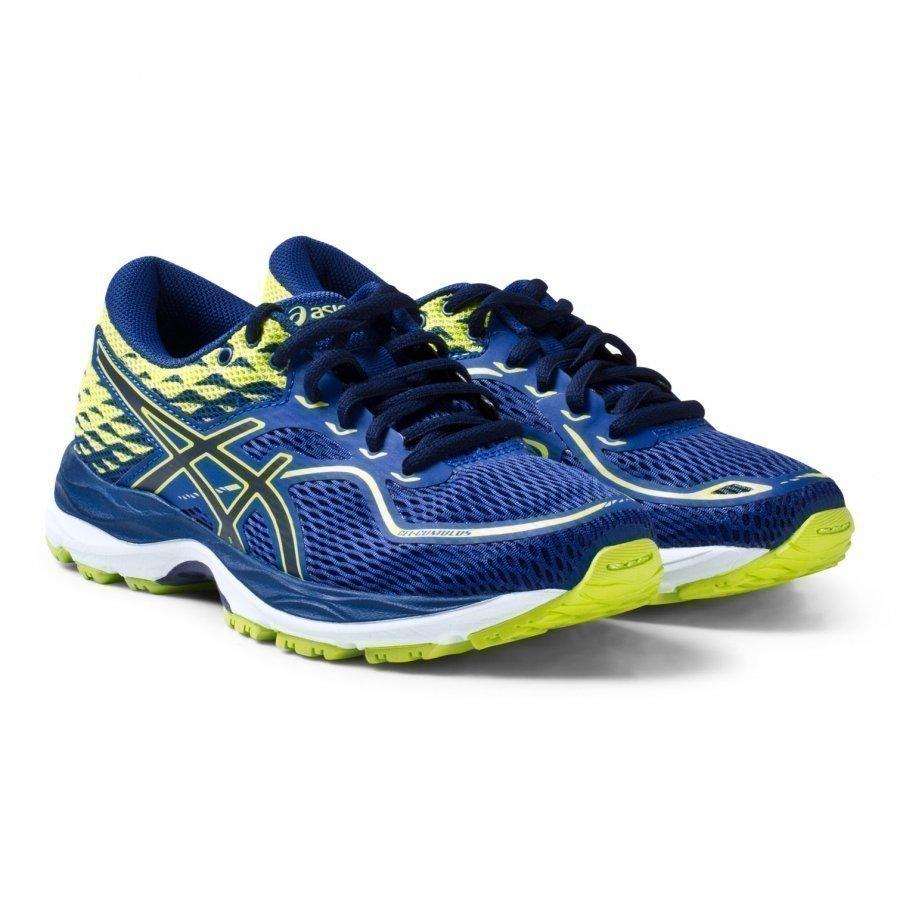 Asics Blue And Green Junior Gel-Cumulus 19 Running Trainers Urheilukengät
