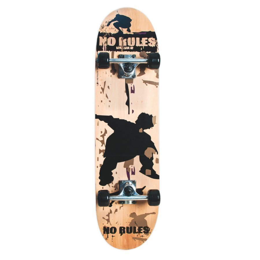 Authentic Sports Skateboard No Rules Abec 5 + Reppu