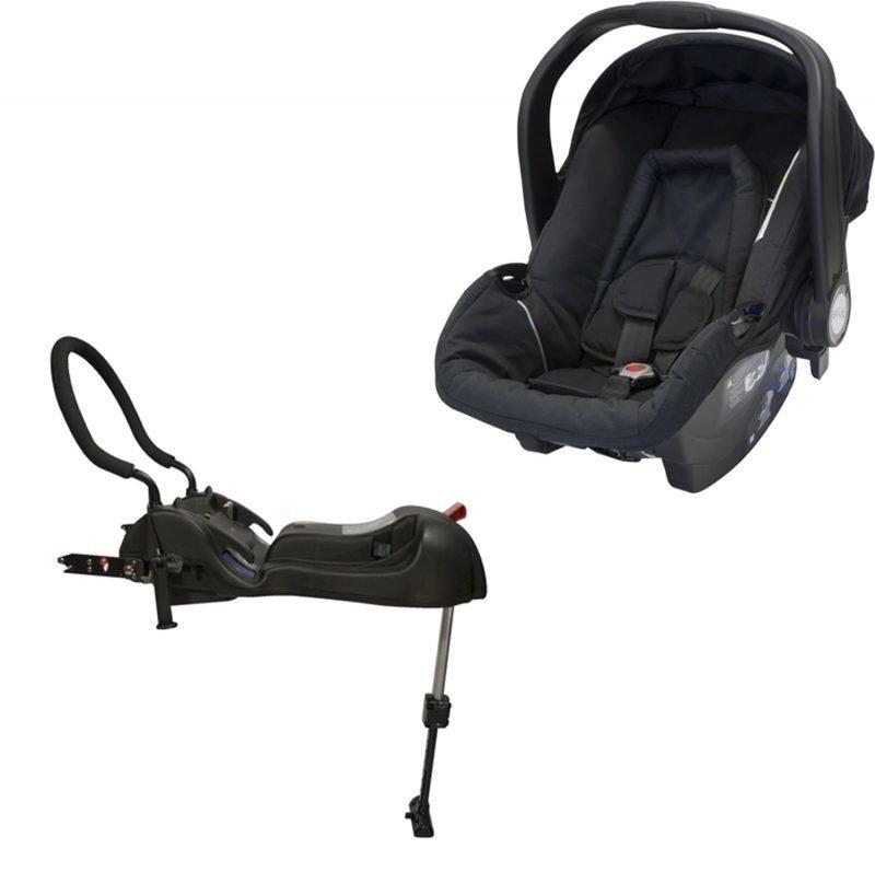 Axkid Turvakaukalo Babyfix Black 0-13 kg + Axkid Babyfix pohja