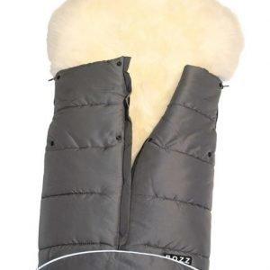 BOZZ Lämpöpussi pitkäkarvaisella lampaantaljalla Valkoinen/harmaa