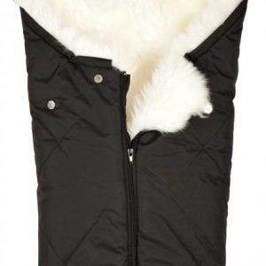 BOZZ Pieni lämpöpussi pitkäkarvaisella lampaantaljalla Musta/valkoinen