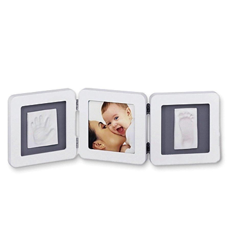 Baby Art Kehykset Kuva + Jalan / Kädenjäljet Double Print Frame White & Grey