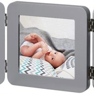 Baby Art Valokuvakehys ja kipsijälki Kaksinkertainen Harmaa