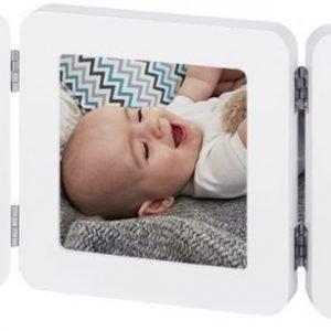 Baby Art Valokuvakehys ja kipsijälki Kaksinkertainen Valkoinen/Harmaa
