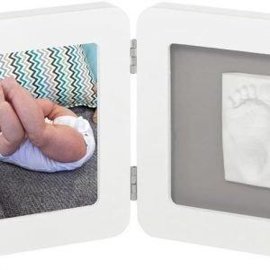 Baby Art Valokuvakehys ja kipsijälki Yksinkertainen Valkoinen/harmaa