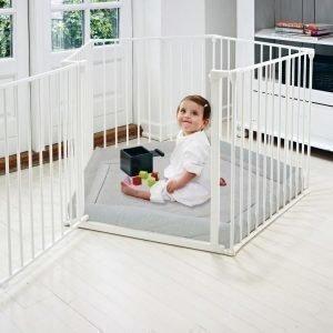 Baby Dan Park-A-Kid Leikkikehä Valkoinen