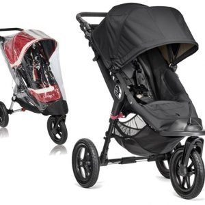Baby Jogger Rattaat City Elite Single Black tcc Sadesuoja Paketti