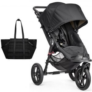 Baby Jogger Rattaat City Elite Single + Skip Hop Hoitolaukut Highline Musta
