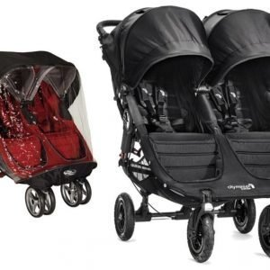 Baby Jogger Rattaat City Mini GT Double Black/Black + Sadesuoja Paketti