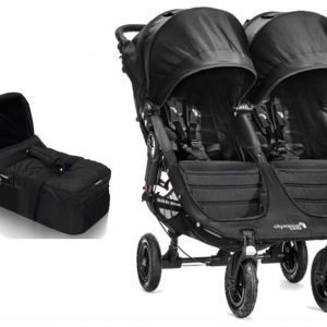 Baby Jogger Rattaat City Mini GT Double Black/Black + Vaunukoppa City Compact Small Paketti