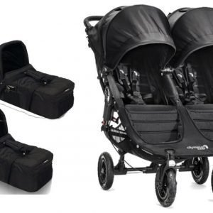 Baby Jogger Rattaat City Mini GT Double Black/Black ttc. 2st Vaunukoppa City Compact Small Paketti