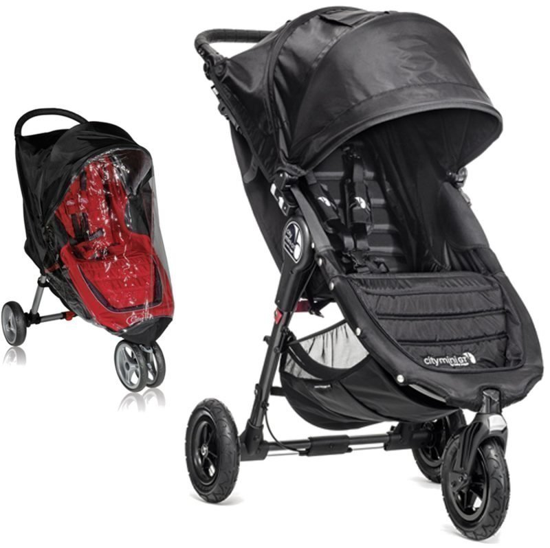 Baby Jogger Rattaat City Mini GT Single 2014 Black/Black ttc Sadesuoja Paketti