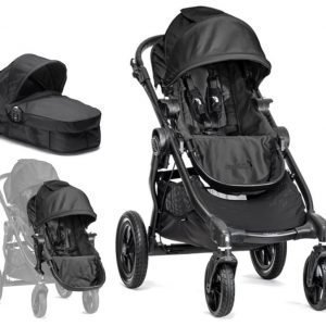 Baby Jogger Rattaat City Select Single Black tcc Sisarusistuin et Vaunukoppa Paketti
