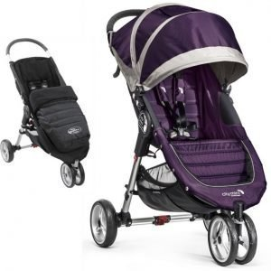 Baby Jogger Rattaat + Lämpöpussi City Mini Single 2014 Purple/Grey + Black