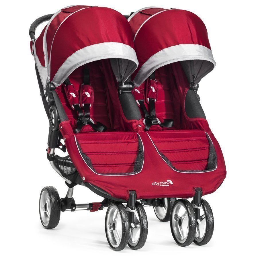 Baby Jogger Sisarusrattaat City Mini Double Crimson / Gray