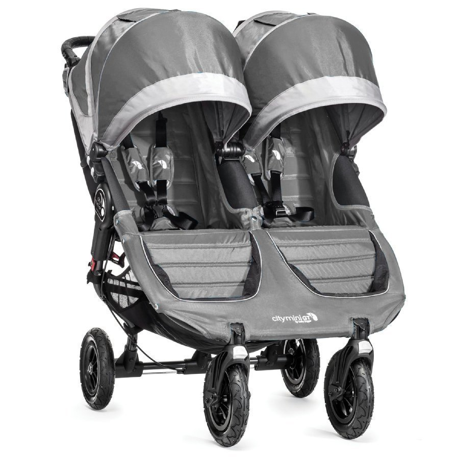 Baby Jogger Sisarusrattaat City Mini Gt Double Steel / Gray