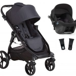 Baby Jogger Travelsystem City Premier Rattaat + City Go Turvakaukalo sis. Turvakaukalon adapteri Granite/Black