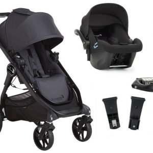 Baby Jogger Travelsystem City Premier Rattaat + City Go Turvakaukalo sis. Turvakaukalon adapteri + ISOfix-jalusta Granite/Black