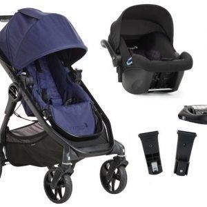 Baby Jogger Travelsystem City Premier Rattaat + City Go Turvakaukalo sis. Turvakaukalon adapteri + ISOfix-jalusta Indigo/Black