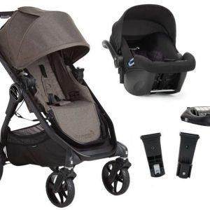 Baby Jogger Travelsystem City Premier Rattaat + City Go Turvakaukalo sis. Turvakaukalon adapteri + ISOfix-jalusta Taupe/Black