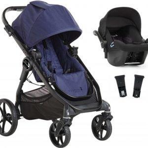 Baby Jogger Travelsystem City Premier Rattaat + City Go Turvakaukalo sis. Turvakaukalon adapteri Indigo/Black