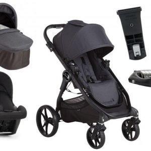 Baby Jogger yhdistelmävaunut City Premier + Turvakaukalo + Isofix-telakka Granite