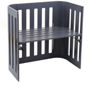 BabyBay Bedside Crib Trend Harmaa