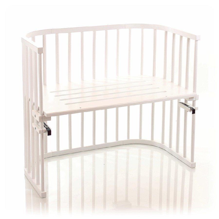 Babybay Maxi Sivuvaunusänky Massiivipyökki Valkoinen