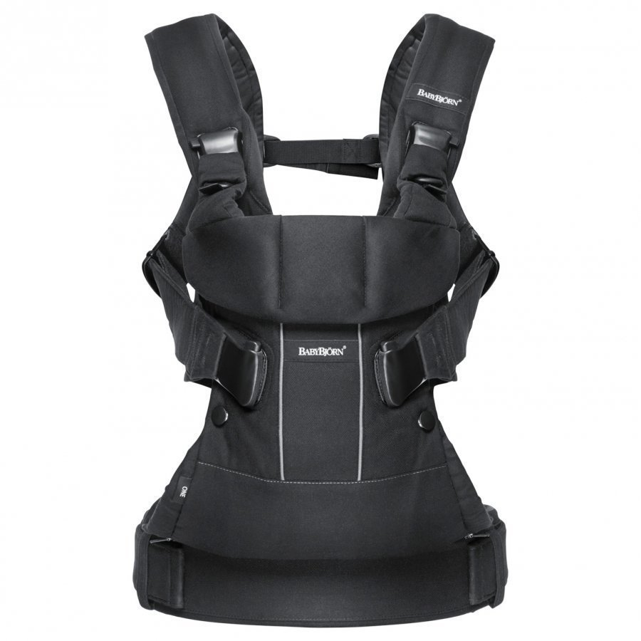 Babybjörn Baby Carrier One Black Cotton Mix Kantoreppu