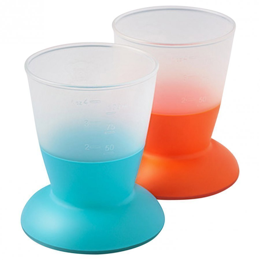 Babybjörn Cup 2-Pack Orange/Turquoise Nokkamuki
