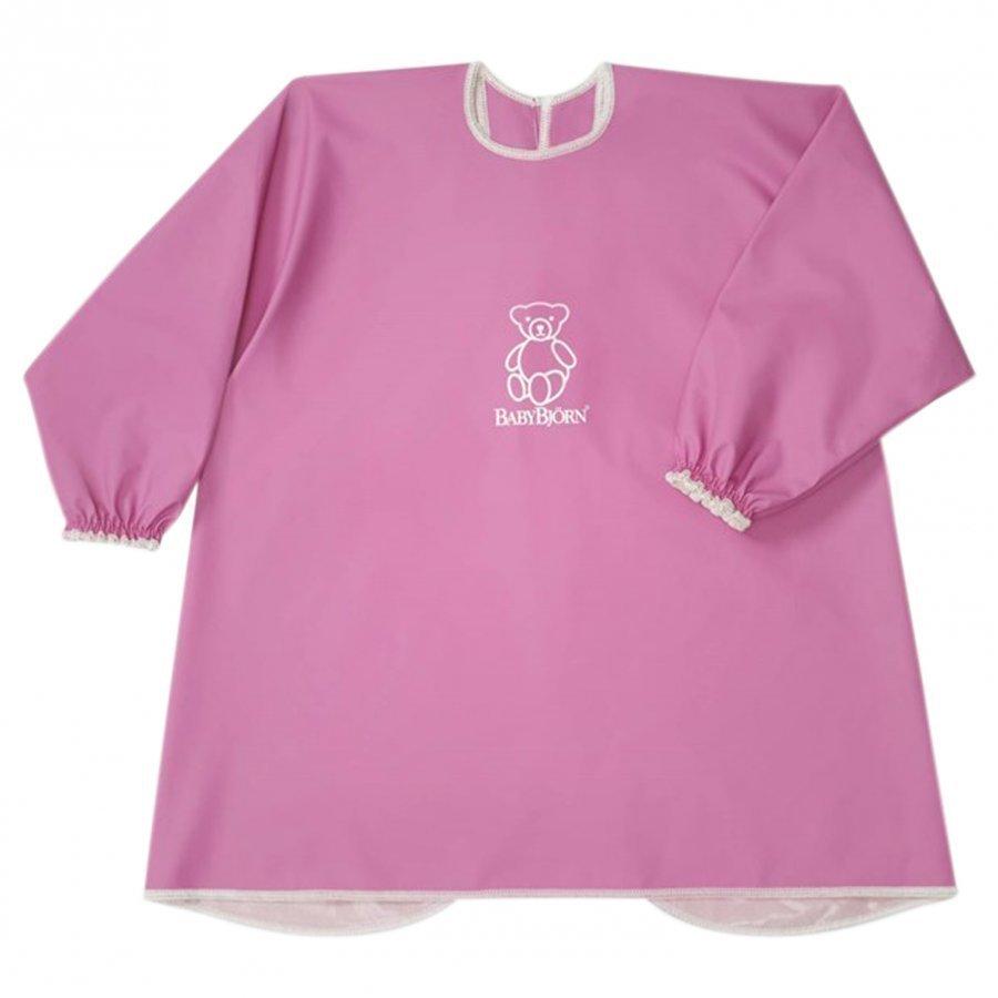 Babybjörn Eat And Play Smock Pink Ruokalappu