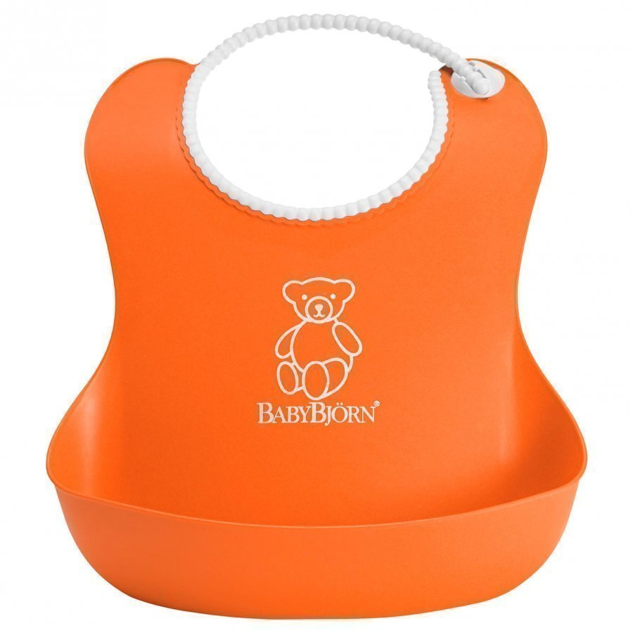 Babybjörn Soft Bib Orange Ruokalappu
