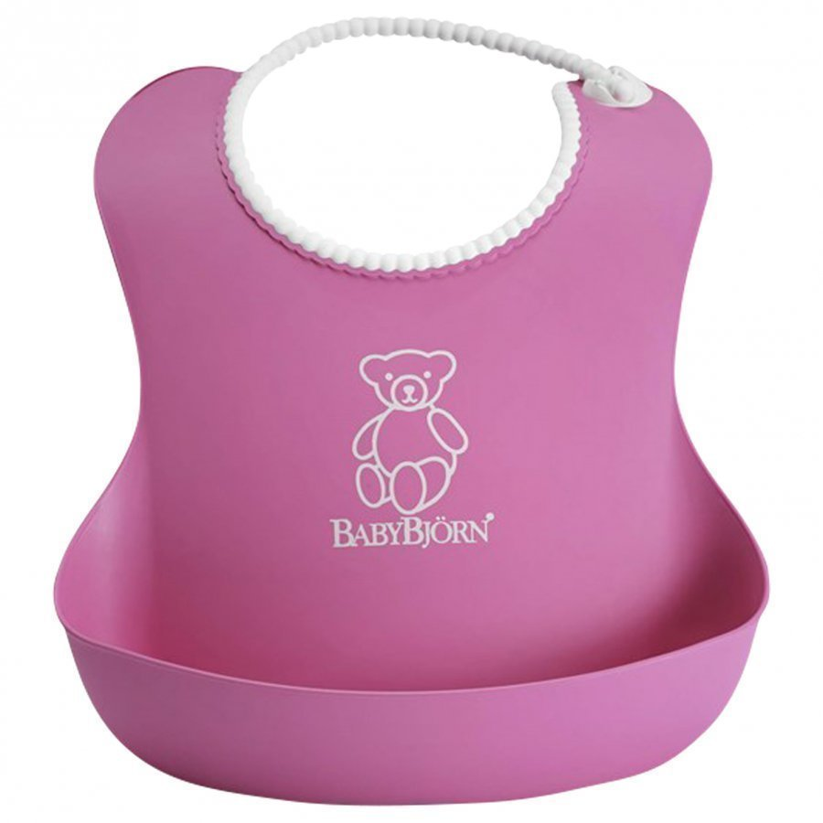 Babybjörn Soft Bib Pink Ruokalappu