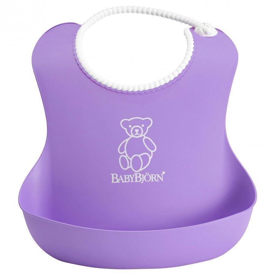 Babybjörn Soft Bib Purple Ruokalappu