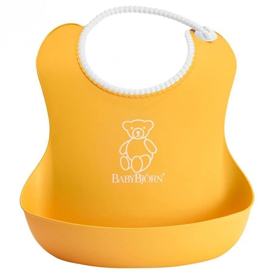 Babybjörn Soft Bib Yellow Ruokalappu