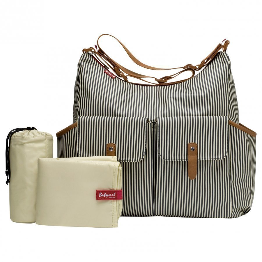 Babymel Frankie Changing Bag Stripe Navy Hoitolaukku