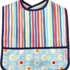 Bambino Wipe Off Ruokalappu Happy Stripes/Dots