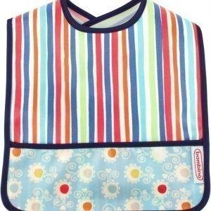 Bambino Wipe Off Ruokalappu Happy Stripes/Dots