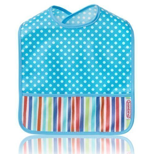 Bambino Wipe Off Ruokalappu Heavenly Dots/Stripes