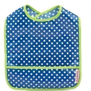 Bambino Wipe off Ruokalappu Blueberry/Green