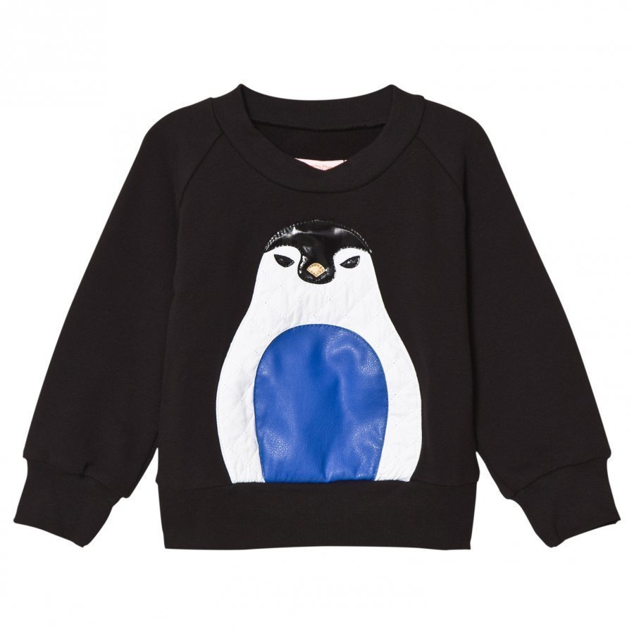Bang Bang Copenhagen Black Penguin Applique Sweatshirt Oloasun Paita