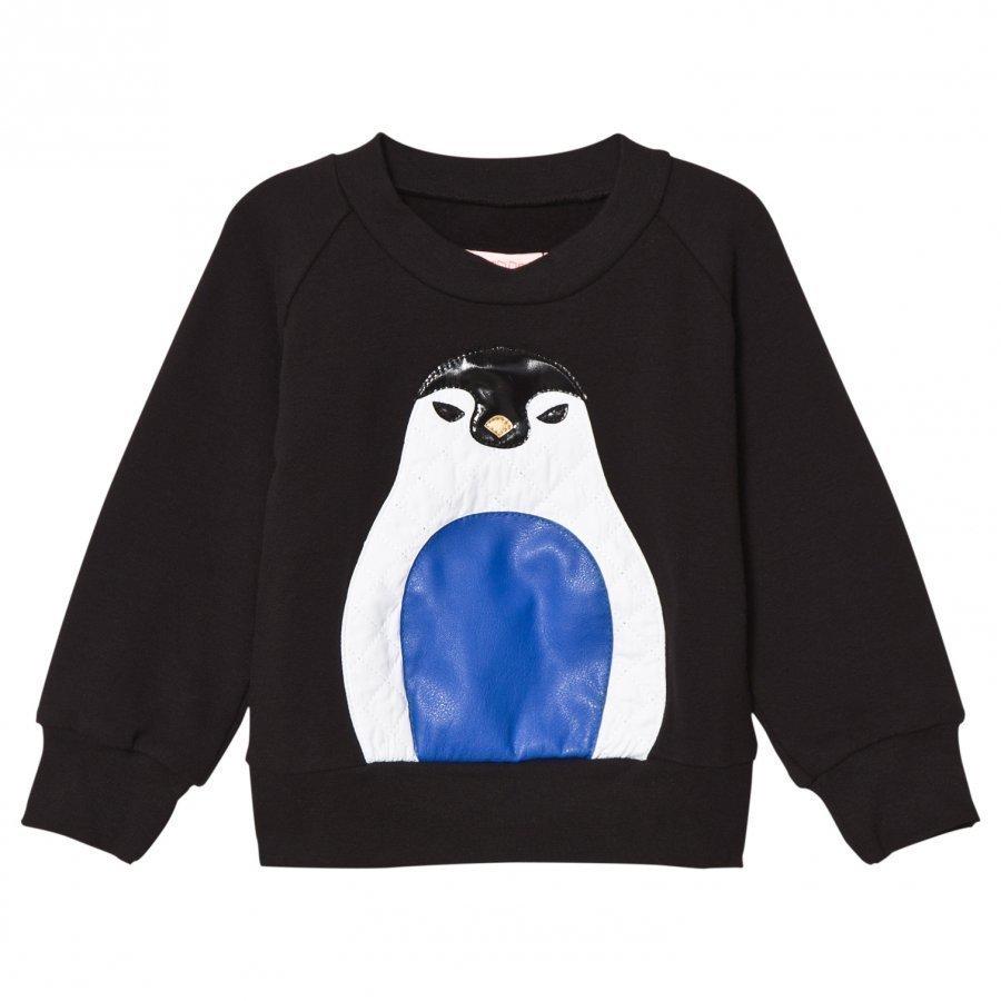 Bang Bang Copenhagen Black Penguin Applique Sweatshirt Oloasun Paita
