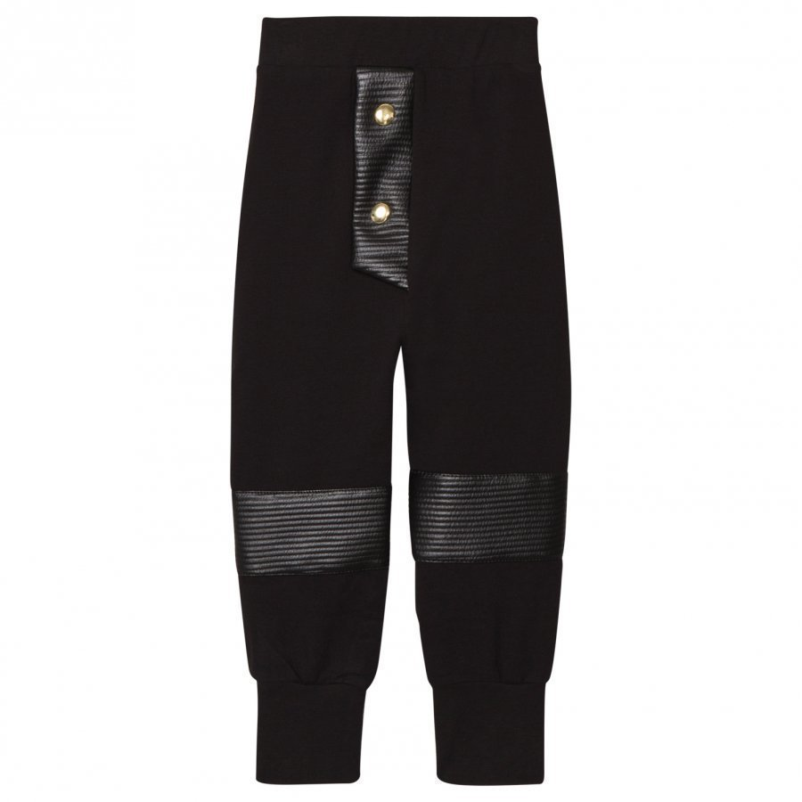 Bang Bang Copenhagen Black Quilted Knee Hero Pants Housut