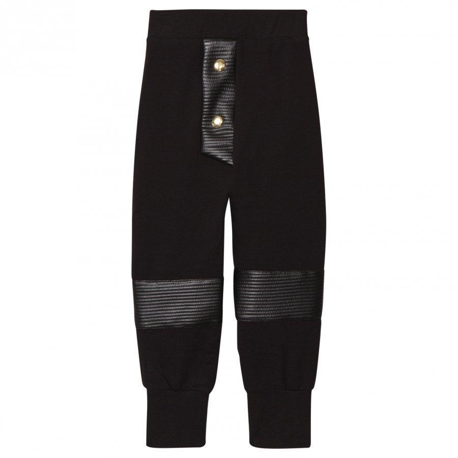 Bang Bang Copenhagen Black Quilted Knee Hero Pants Housut
