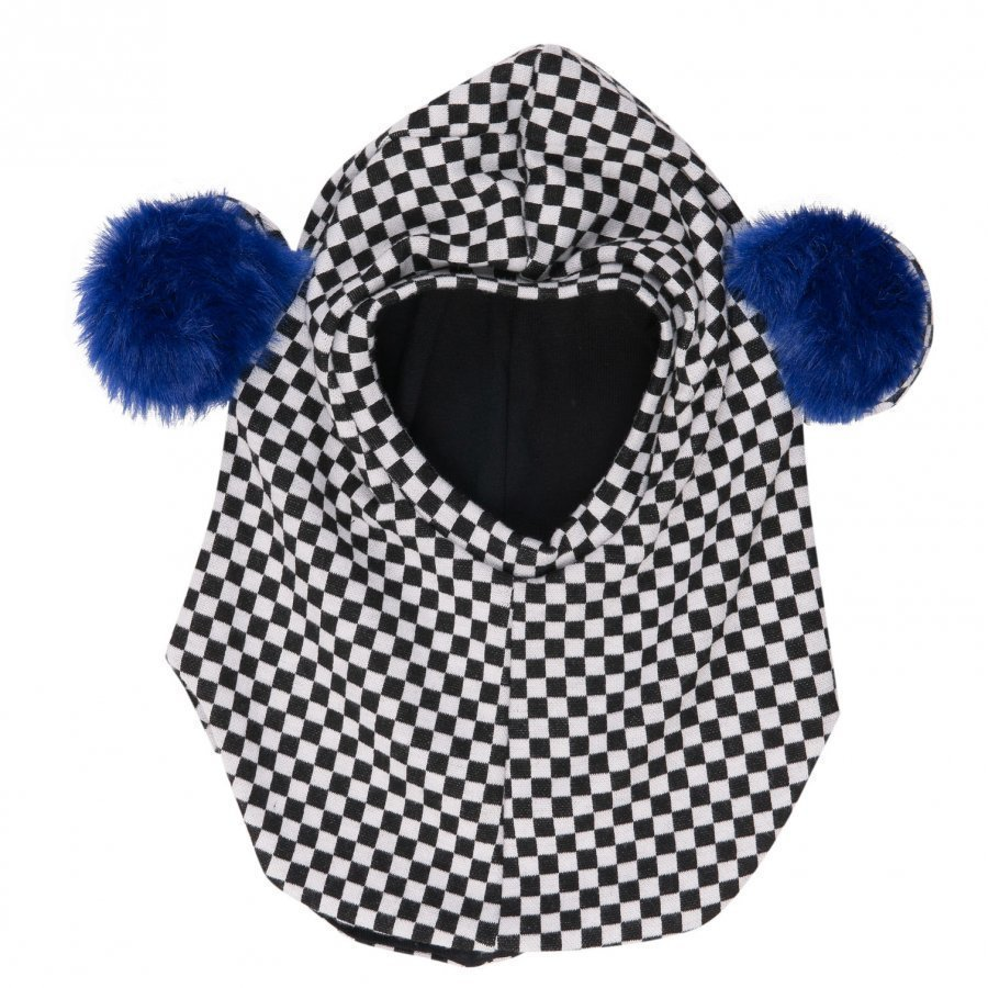 Bang Bang Copenhagen Black/White Check Teddy Ear Balaclava Kypäräpipo