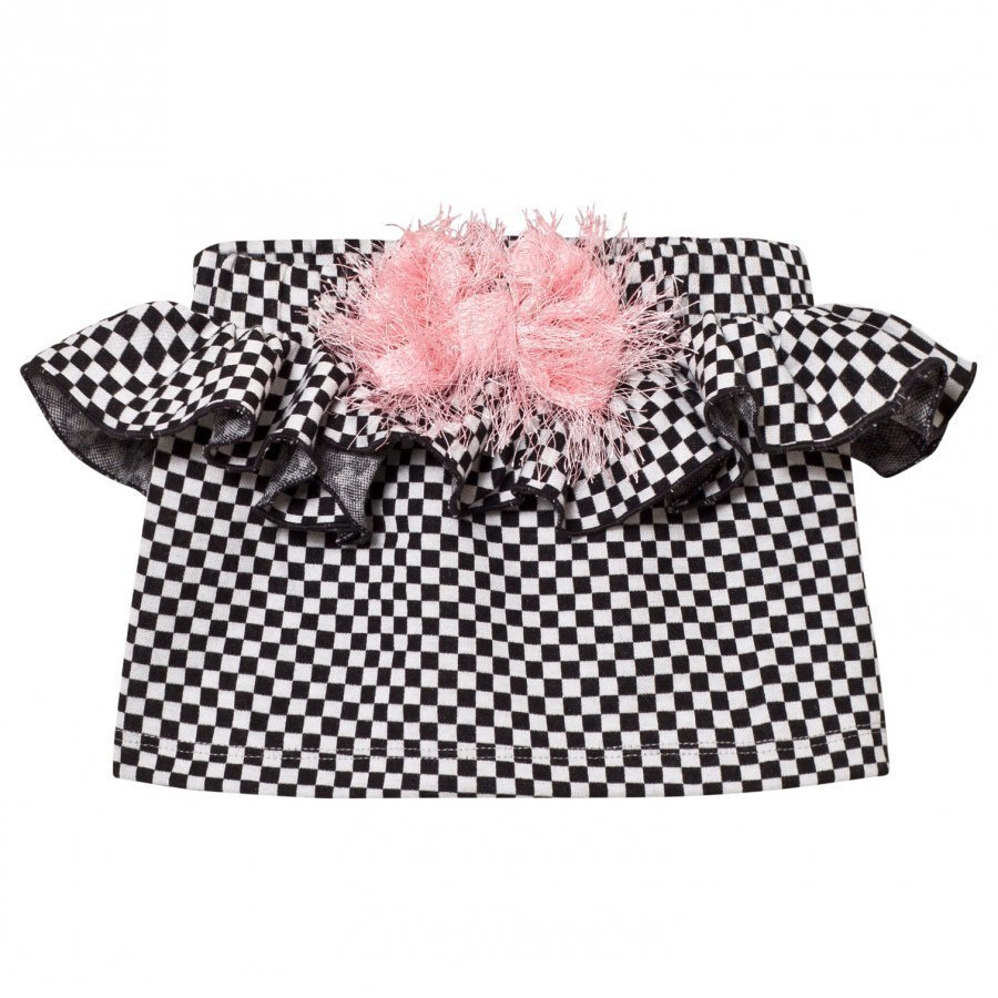 Bang Bang Copenhagen Black/White Check True Tracy Bow Skirt Lyhyt Hame